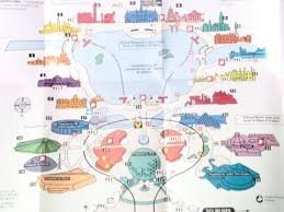 disney epcot map walt disney 1997 epcot center brochure map wars