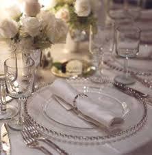 silver and white wedding reception silver wedding table
