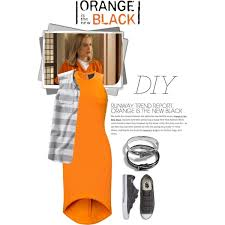Oitnb Halloween Costumes Diy Halloween Costume Orange Black Theme Polyvore