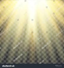 yellow warm light effect sun rays stock vector 644789692