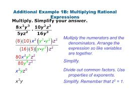 homework part i multiply simplify your answer divide simplify