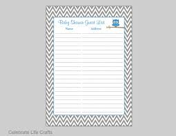 owl baby shower guest list printable baby shower sign in