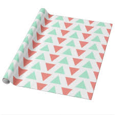 mint wrapping paper mint triangle wrapping paper zazzle