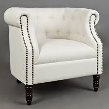 jofran grace ch ivory grace accent chair in tufted easy living