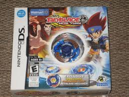 amazon com nintendo ds beyblade metal fusion game with blue