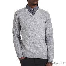 strong packing men clothing burton grey mock shirt v neck jumper