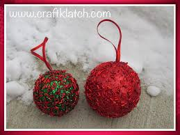 craft klatch diy easy glitter ornaments how to