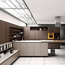 kitchen modern wooden cabinets with aluminum handle finished