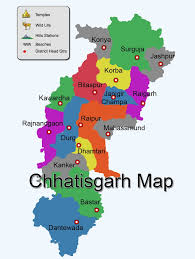 Map Of India With States by Map Of Chhattisgarh Districtwise Chhattisgarh Map Pilgrimage
