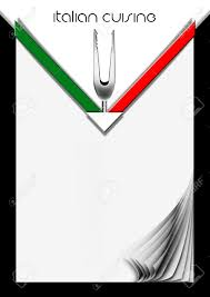 Italian Flag Images Background For Cover Or Italian Menu With Italian Flag And Fork