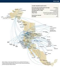 alaska air map alaska route map travel codex