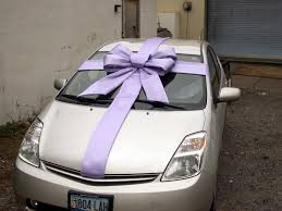 bows for cars presents the gift wrap april 2010