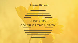 Sherwin Williams June 2015 Color Of The Month Decisive Yellow Sherwin Williams