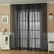 Solid Color Valances For Windows Ouneed Fashion Solid Color Tulle Door Window Curtain Drape Panel