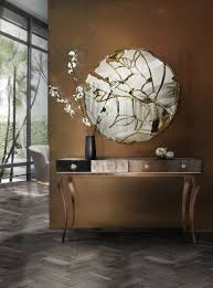 Entrance Tables And Mirrors How To Combine Modern Console Tables With Mirrors