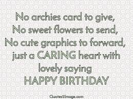 no archies card to give birthday quotes 2 image