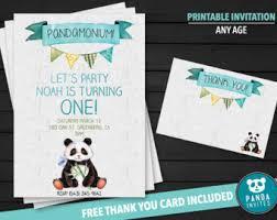 panda invitations etsy