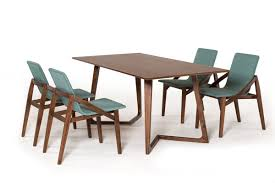 Contemporary Dining Table Jett Contemporary Walnut Dining Table