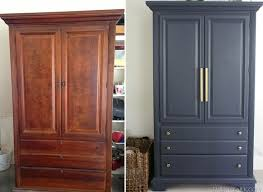 Painted Bedroom Furniture Before And After by Best 25 Wardrobe Makeover Ideas On Pinterest Closet Remodel