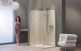 bathroom design fascinating corner shower stalls for best corner shower stall kits design with clear glass enclosed shower and bathroom chair also grey walls