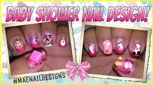 baby shower nail design maenaildesigns youtube