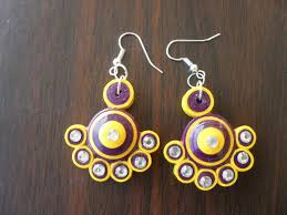 paper quilling earring new design youtube