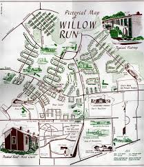 Google Map Of Michigan by 1956 Village Map Willow Run Village