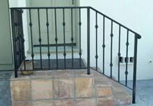 ornamental wrought iron stair railing balcony handrails los