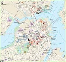 Map Of Boston by Map Of Boston Universities You Can See A Map Of Many Places On