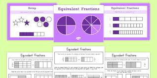 grade 3 equivalent fractions powerpoint with worksheets usa