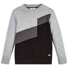 boys sweater boys black grey sweater childrensalon