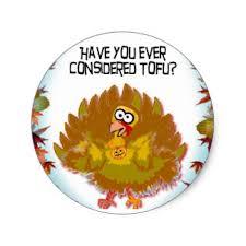 thanksgiving turkey vegetarian stickers zazzle