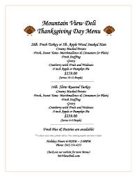 menu mountain view deli