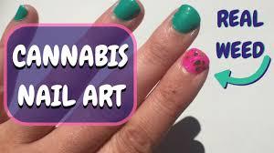 diy real weed nail art tutorial the marijuana manicure youtube