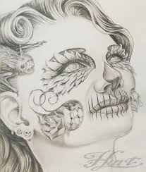 drawing flower of pencil sketches la catrina pencil drawing