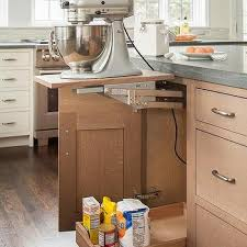 Kitchen Appliance Lift - gray china cabinet transitional kitchen kelly nutt design