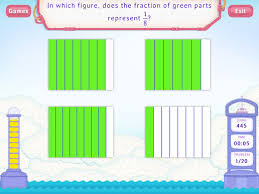 identify fractions worksheets third grade math
