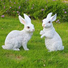 free post simulation animal rabbit flower garden ornaments