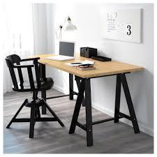 Beech Computer Desk by Gerton Oddvald Table Beech Black 155x75 Cm Ikea