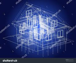 blueprint architectural design halftimbered residential house the blueprint of architectural design of half timbered residential house with the terrace vector