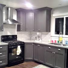 gray kitchen cabinets with black counter gray kitchen cabinets black appliances home design ideas