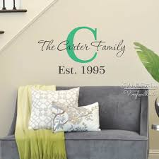 custom family name wall decals wall murals you u0027ll love