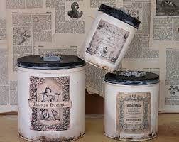 country kitchen canister sets canisters etsy