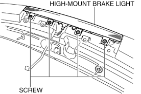 mazda 3 service manual high mount brake light removal