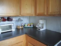 tin backsplashes for kitchens budget kitchen update corrugated steel backsplash budget
