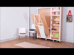 space saving double bed vertical double bed with dinning and shelf by prab space saving