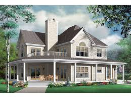 house with wrap around porch and a balcony up top i want my