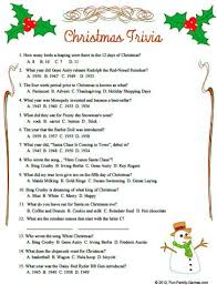 Dinner Party Question Games - christmas trivia questions and answers christmas quiz questions