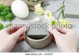 How To Make Floral Arrangements How To Make Floral Arrangement With Goose Egg Carnations Stock