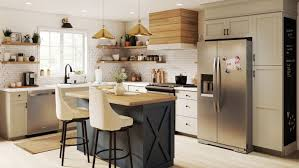 modern country kitchen with oak cabinets modern farmhouse kitchen design